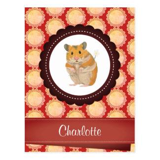 Cartão Postal O vermelho adiciona seu hamster conhecido