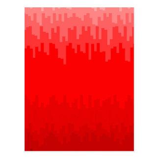 Cartão Postal O vermelho desvanece-se fundo