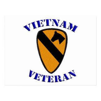 Cartão Postal ø Veterano de Cav Vietnam