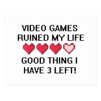 Cartão Postal O video games arruinou meu estilo de vida 1