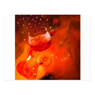 Cartão Postal O vinho e a música são essenciais em nossa