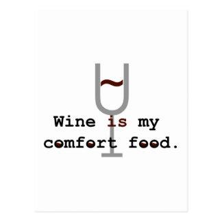 Cartão Postal O vinho é minha comida do conforto