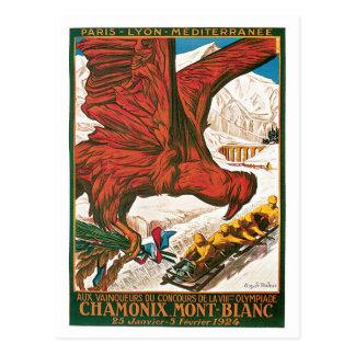 Cartão Postal O vintage Chamonix Mont Blanc viaja anúncio