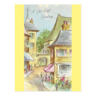 Cartão Postal O vintage obtem bem com vila