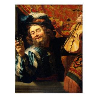 Cartão Postal O violinista alegre - motriz do vintage -