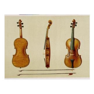 Cartão Postal O violino de Hellier feito por Antonio