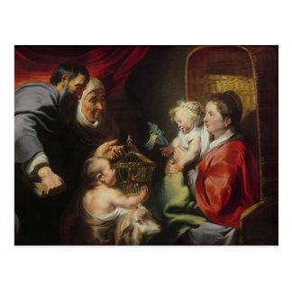 Cartão Postal O Virgin e a criança