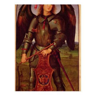 Cartão Postal O Virgin e a criança com SS. Raphael e