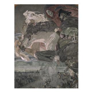 Cartão Postal O vôo de Faust e de Mephistopheles, 1896