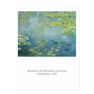 Cartão Postal O Waterlilies de Monet
