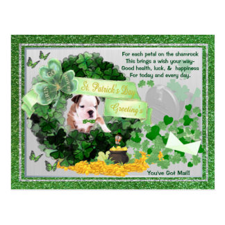 Cartão Postal O You've do rissol da rua do filhote de cachorro