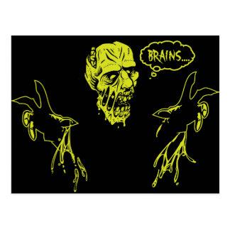 Cartão Postal O zombi quer cérebros