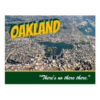"""Cartão Postal Oakland: """"Há nenhum lá lá. Da """"cartão caneca de"""