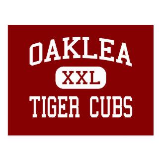 Cartão Postal Oaklea - tigre Cubs - meio - Junction City
