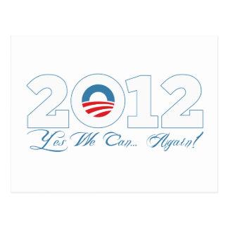 Cartão Postal Obama 2012