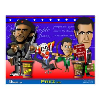 Cartão Postal Obama Biden Romney Ryan