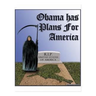 Cartão Postal Obama tem planos para América