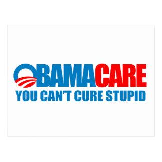 Cartão Postal Obamacare - você não pode curar estúpido