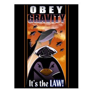 Cartão Postal Obedeça a gravidade