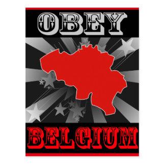 Cartão Postal Obedeça Bélgica