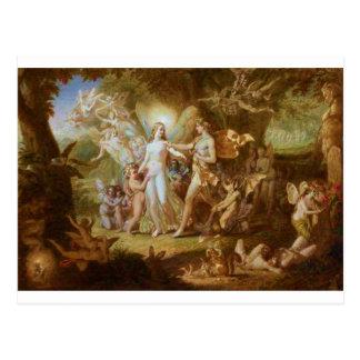Cartão Postal Oberon e Titania