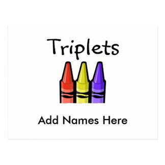 Cartão Postal Objectivas triplas (pastéis)