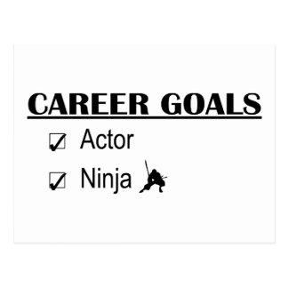Cartão Postal Objetivos da carreira de Ninja do ator