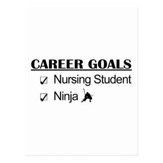 Cartão Postal Objetivos da carreira de Ninja - estudante dos
