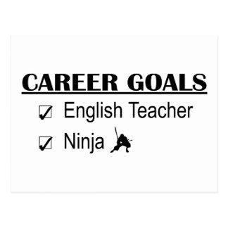 Cartão Postal Objetivos da carreira de Ninja - professor de