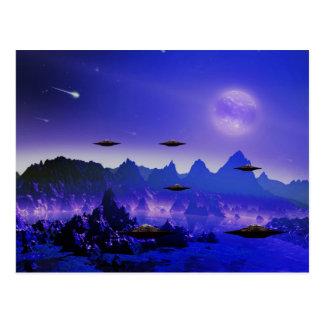 Cartão Postal Objeto do vôo do UFO no espaço