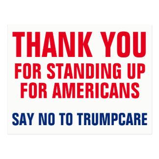 Cartão Postal Obrigado a dizer NÃO a Trumpcare AHCA