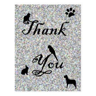 Cartão Postal Obrigado animal do hospital do veterinário da