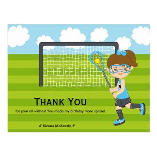 Cartão Postal Obrigado aniversário do Lacrosse