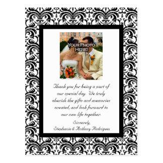 Cartão Postal Obrigado clássico do casamento você