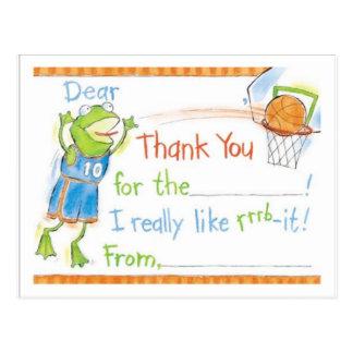 Cartão Postal Obrigado comedor de rãs