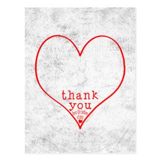 Cartão Postal Obrigado da parte inferior de meu coração