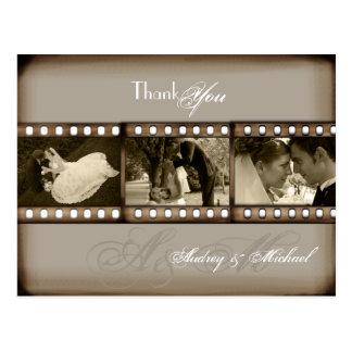 Cartão Postal Obrigado das fotos do casamento vintage de