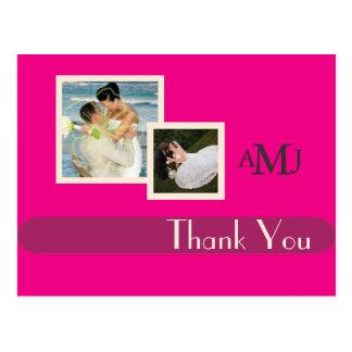Cartão Postal Obrigado das fotos do casamento você cartão,