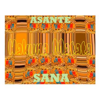 Cartão Postal Obrigado de Hakuna Matata Asante Sana você muito