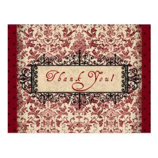 Cartão Postal Obrigado de Parisenne você