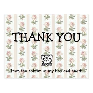 Cartão Postal Obrigado de TKYB você