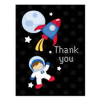 Cartão Postal Obrigado do astronauta do outerspace do