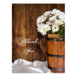 Cartão Postal Obrigado do balde e do casamento do país das