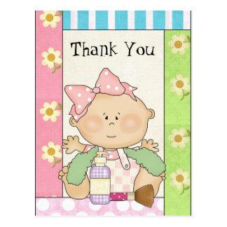 Cartão Postal Obrigado do bebé você rega o postacrd