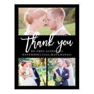 Cartão Postal Obrigado do casamento de PixDezines você/roteiro