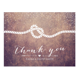Cartão Postal Obrigado do casando dos pontos dos confetes do