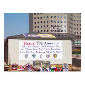 Cartão Postal Obrigado do ponto zero 911 você América