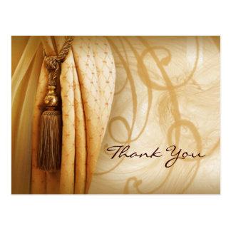 Cartão Postal Obrigado do salão de beleza das cortinas do
