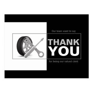 Cartão Postal Obrigado do serviço do carro de Automotriz Empresa