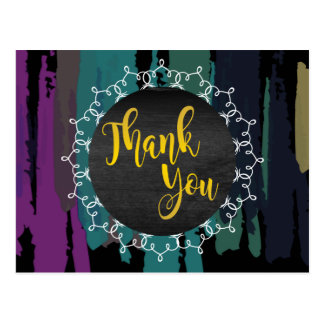 Cartão Postal Obrigado do Splatter da aguarela você abstrai